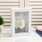 """Interior plastic piggy Bank """"Bear and bees"""" 17х12х3,8 cm"""