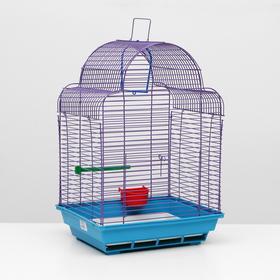 "Клетка для птиц ""Купола"" комплект, 35 х 29 х 51 см, синий/фиолетовый"