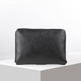 Сумка мужская, отдел на молнии, наружный карман, цвет чёрный
