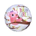 """Шар фольгированный 18"""" BABY GIRL «Коала», круг - фото 958185"""