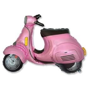 """Шар фольгированный 38"""" «Скутер», фигура, цвет розовый"""