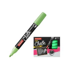 """Маркер меловой 1.0 мм Luxor """"Chalk Marker"""" зеленый, пулевидный, водная основа"""
