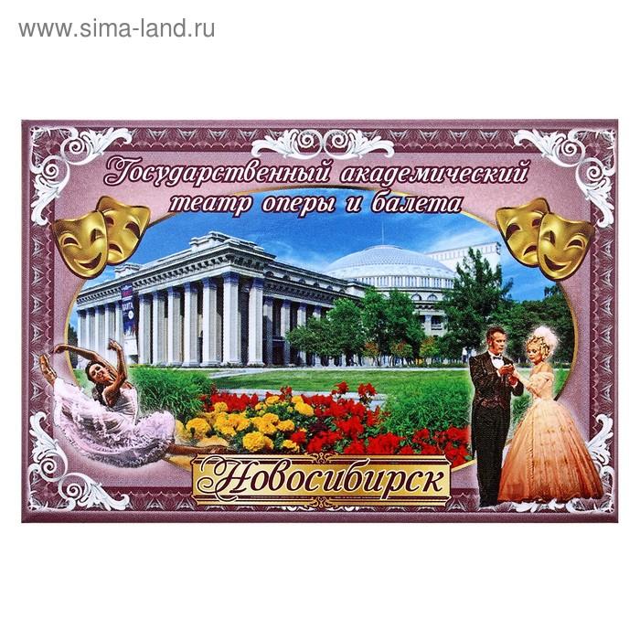 """Магнит закатной """"Новосибирск. Академический театр"""""""