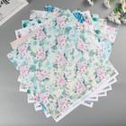 """Набор бумаги для скрапбукинга """"Морской прибой"""" 30,5х30,5 см 12 листов 190гр/м"""