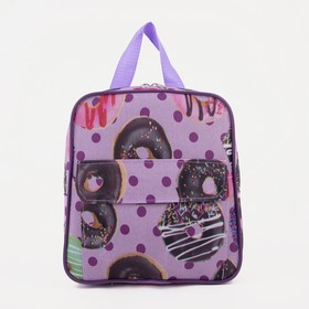 4920 D Children's backpack, 22 * 6 * 23, zippered section, n / pocket, lilac sweets