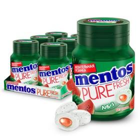 Жевательная резинка Mentos Жидкий центр, арбуз, 54 г