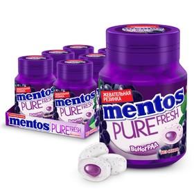 Жевательная резинка Mentos Жидкий центр, виноград, 54 г