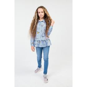 Джинсы для девочки, цвет голубой, рост 134 см