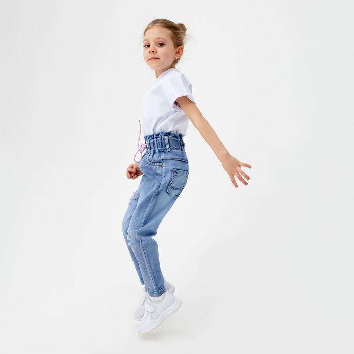 Джинсы для девочки, цвет голубой, рост 98 см - фото 105571093