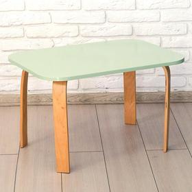 Стол детский «Мордочка» 700×500×460, цвет салатовый