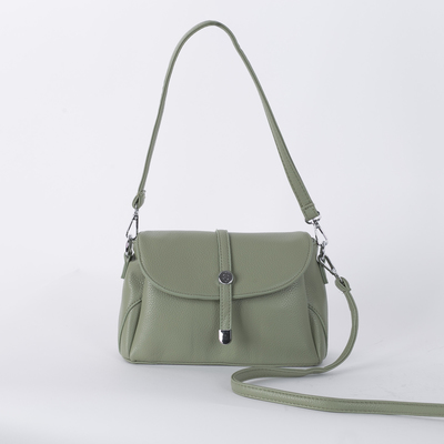 Bag 12271 24*8*16, 1 otd zip, Nar pocket, long strap, green
