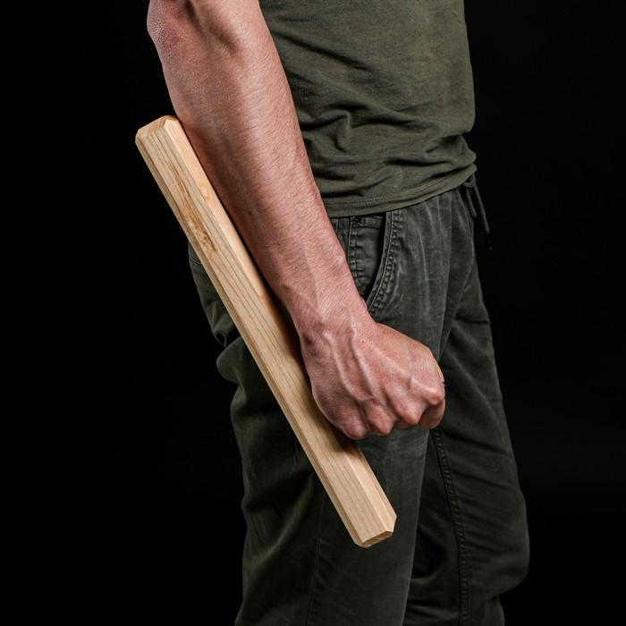 """Сувенирное деревянное оружие """"Тонфа"""" 40 см, массив ясеня - фото 105640501"""