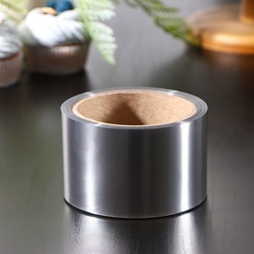Лента бордюрная для обтяжки тортов Доляна, 130 мкр × 60 мм × 15 м