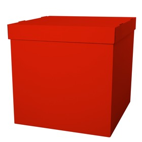 Box of balloons, Red, 60*60*60 cm, 1 PC.