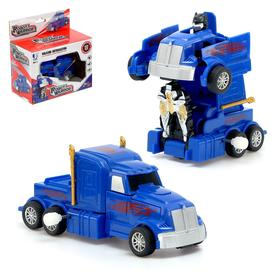"""Робот-трансформер """"Оптимус"""", заводной механизм, цвет синий"""