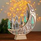 Новогодний декор с подсветкой «Огромный месяц» 2 круглые, 4х25х31 см
