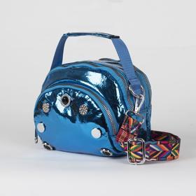 Bag 60 20*10*14 2отдела zipper,2 Nar pocket,long strap, blue