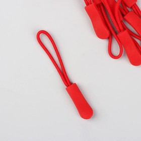 Пуллер для молнии, 2,5 см, 6 × 0,8 см, 10 шт, цвет красный