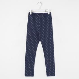 Леггинсы для девочки «Горох», цвет синий, рост 110 см