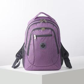Рюкзак школьный, 2 отдела на молниях, 2 наружных кармана, 2 боковых кармана, цвет розовый