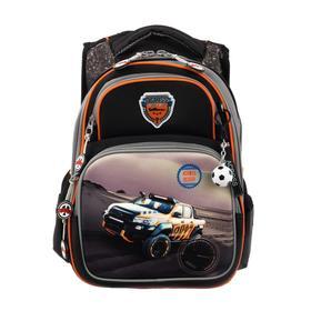 Рюкзак школьный эргоном.спинка Across DH3 39*29*17 мал, чёрный/серый 20-DH3-1