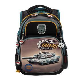 Рюкзак школьный эргоном.спинка Across DH3 39*29*17 мал, чёрный/серый 20-DH3-2