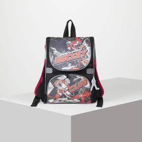 Рюкзак школьный, отдел на молнии, наружный карман, 2 боковых кармана, цвет чёрный