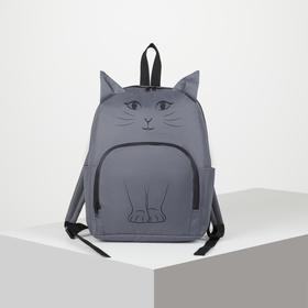 Рюкзак молодёжный, отдел на молнии, наружный карман, 2 боковых кармана, цвет серый
