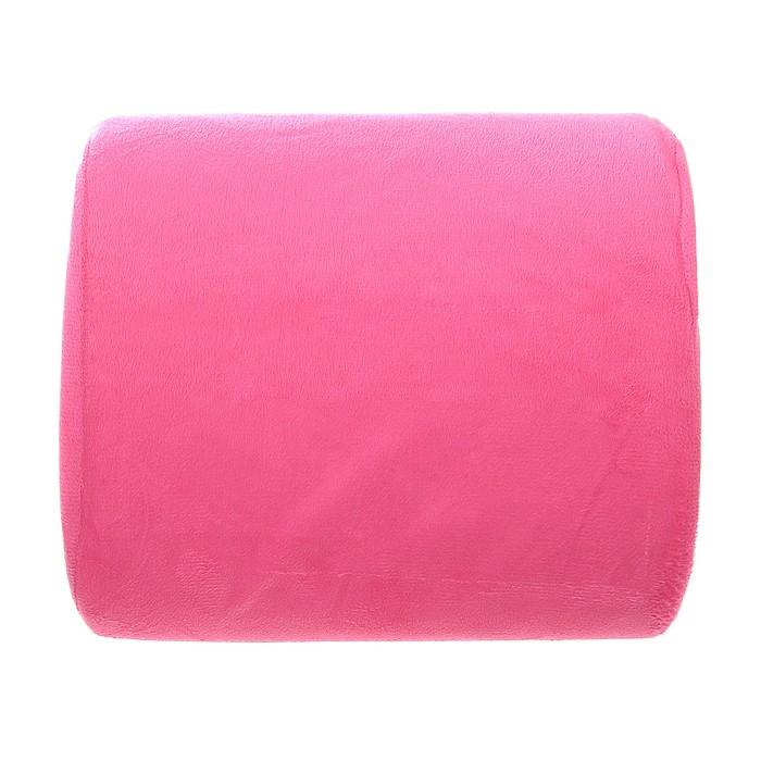 Ортопедическая подушка на спинку кресла Комфорт, розовая
