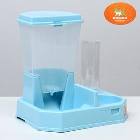 Package: the container for the feed, drinking-pot of 500 ml, mix pink/blue