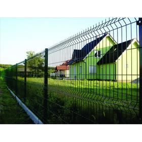 Панельное ограждение, 1,03 × 2,5 м, толщина 4 мм, зелёное Ош