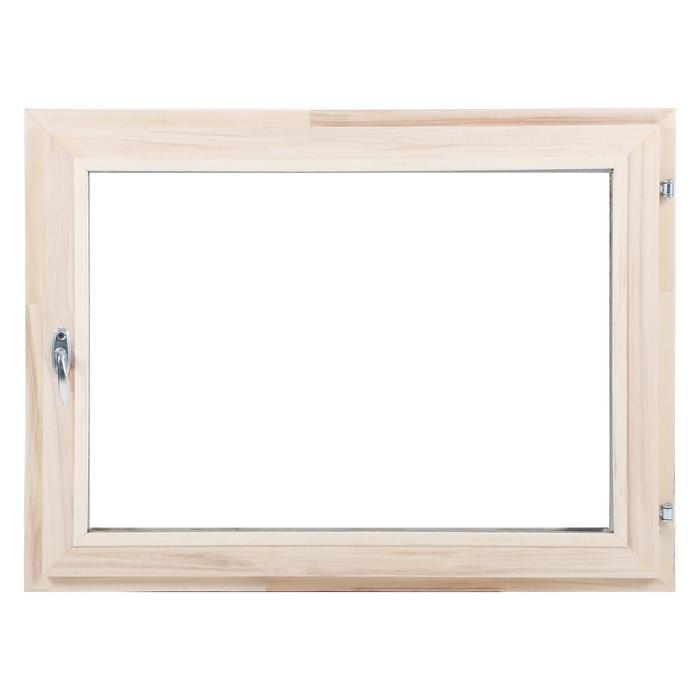 Окно, 60×80см, однокамерный стеклопакет, из липы