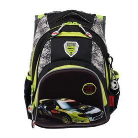 Рюкзак школьный эргоном.спинка Across CH320 39*29*17 мал, чёрный/жёлтый 20-CH320-2