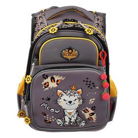 Рюкзак школьный эргоном.спинка Across DH3 39*29*17 дев, серый 20-DH3-6
