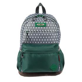 Рюкзак молодежный эргоном.спинка Merlin MR20-147 43*30*18 дев, серый/зелёный MR20-147-4