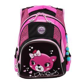 Рюкзак школьный эргоном.спинка Across CH320 39*29*17 дев, розовый/чёрный 20-CH320-6
