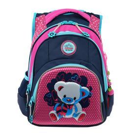 Рюкзак школьный эргоном.спинка Across CH320 39*29*17 дев, синий/розовый 20-CH320-5