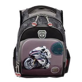 Рюкзак школьный эргоном.спинка Across CH550 39*29*17 мал, серый/чёрный 20-CH550-1