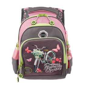 Рюкзак школьный эргоном.спинка Across DH1 39*29*17 дев, сиреневый/розовый 20-DH1-5