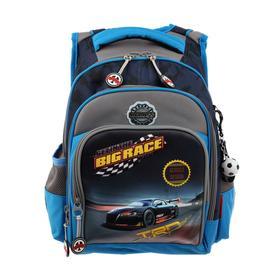 Рюкзак школьный эргоном.спинка Across DH1 39*29*17 мал, синий/серый 20-DH1-1
