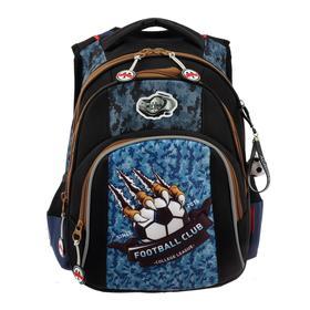 Рюкзак школьный эргоном.спинка Across DH4 39*29*17 мал, чёрный/синий 20-DH4-1