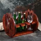 """Полка винная деревянная """"Лебеди"""", 40×34×39 см, массив сосны"""