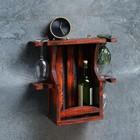 """Полка винная деревянная """"Мини"""", 42,5×44×15 см, массив сосны"""