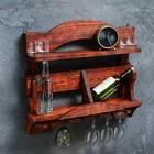 """Полка деревянная """"Вест"""", 6 бутылок, 60×55×16,5 см, массив сосны"""