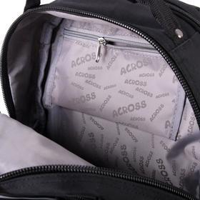 Рюкзак молодежный эргоном.спинка Across AC16 45*30*18 мал, чёрный/жёлтый 20-AC16-128