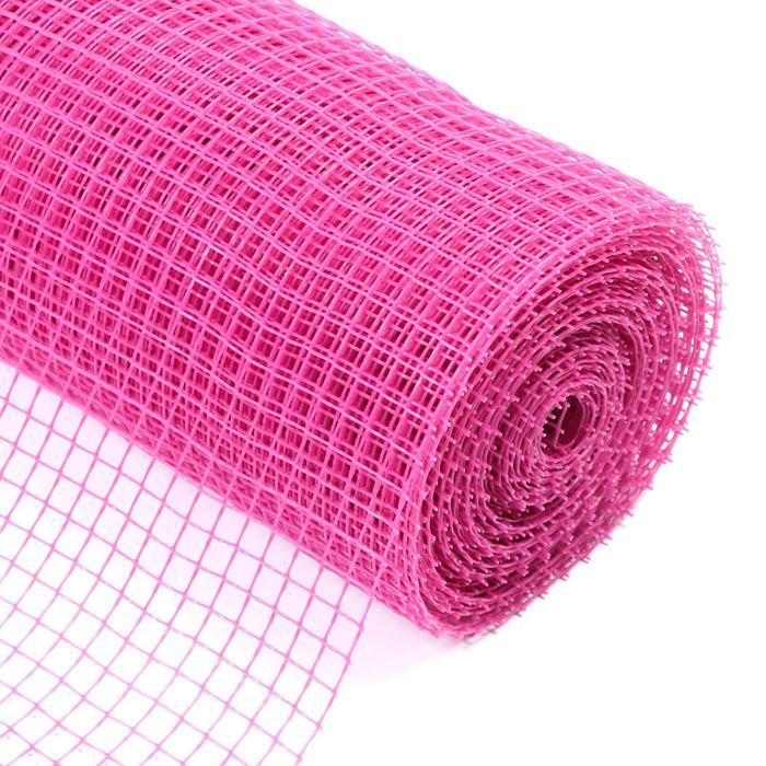 Сетка садовая, 1 × 20 м, ячейка 1,5 × 1,5 см, розовая, Greengo