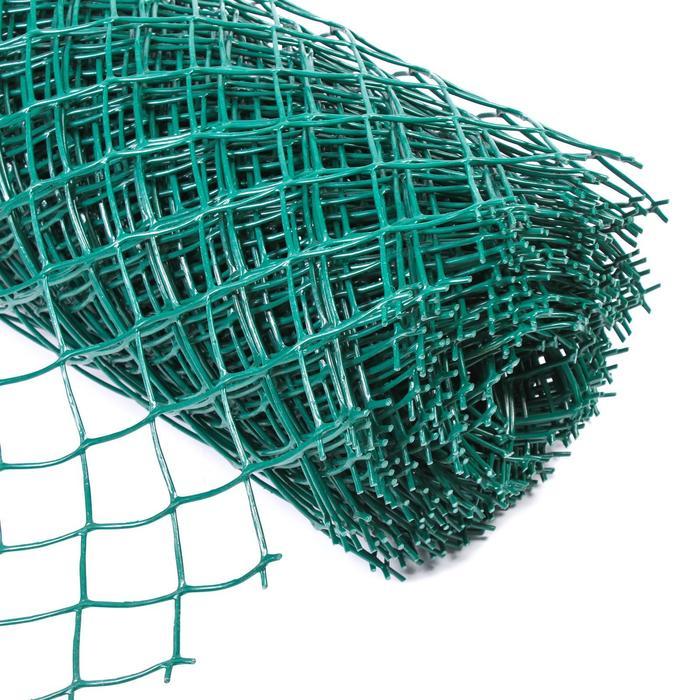 Сетка садовая, 1,5 × 20 м, ячейка 55 × 55 мм, зелёная