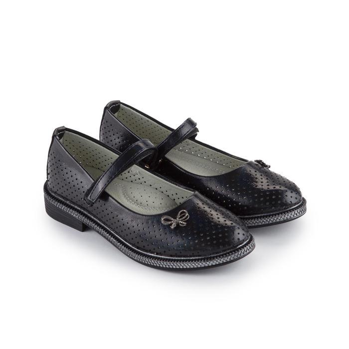 Туфли детские, цвет чёрный, размер 33