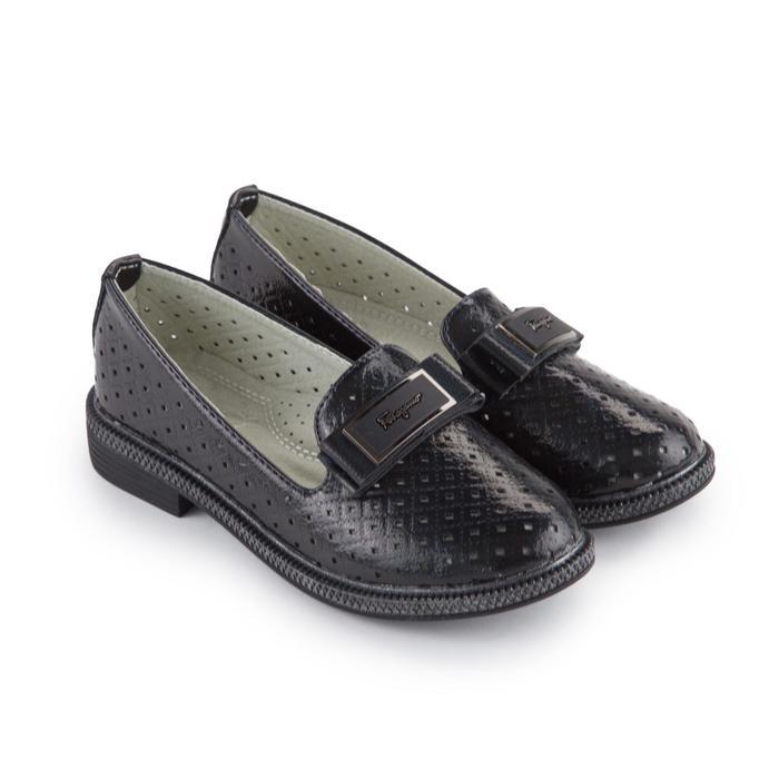 Туфли детские, цвет чёрный, размер 30