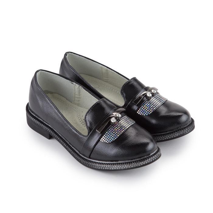 Туфли детские, цвет чёрный, размер 29
